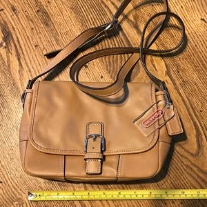 Tan leather cross body